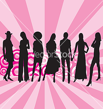 Free fashion models vector - бесплатный vector #271395