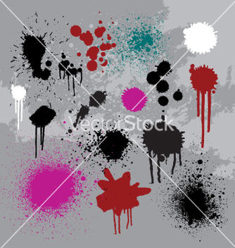 Free drips drops and spray vector - Free vector #271405