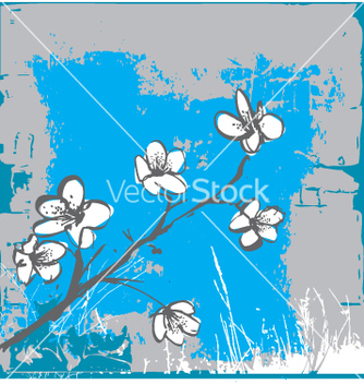 Free cherry blossom wall vector - Free vector #271485