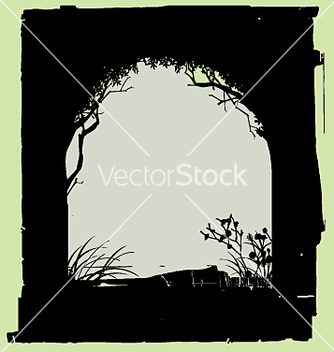 Free tree border vector - Free vector #271495
