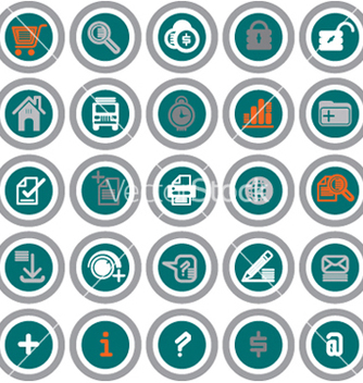 Free web icons circles vector - vector gratuit #271545