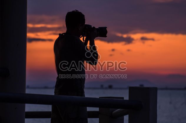 Silhouette at sunset - Free image #271895