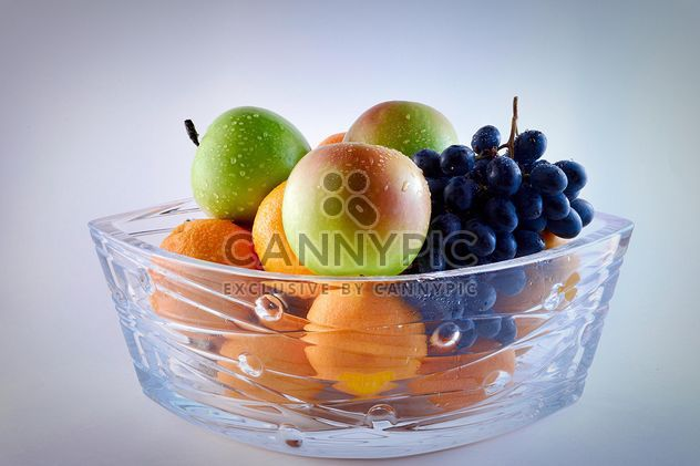 Grapes, apples and oranges in vase - Free image #271915