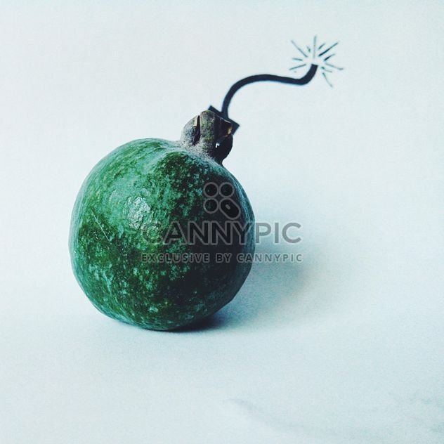 Bomb made of feijoa isolated on white background - бесплатный image #272195
