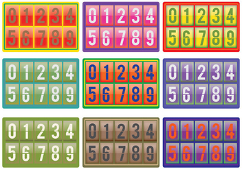Number Counter Vectors - vector gratuit #272355