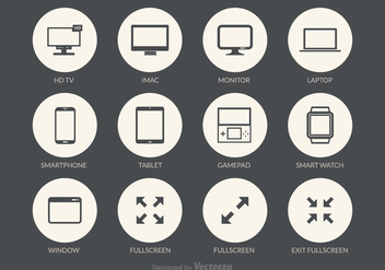 Free Screens Vector Icons - Kostenloses vector #272375