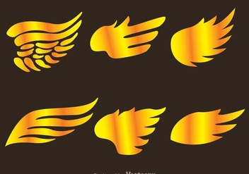 Gold Hawk Wing Logo Vectors - бесплатный vector #272405