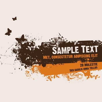 Grunge Message Butterflies Poster - бесплатный vector #272485