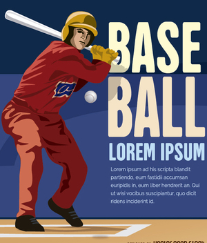 Baseball batter hitting ball - Kostenloses vector #272495