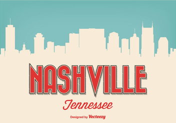 Retro Style Nashville Tennessee Illustration - Free vector #272675