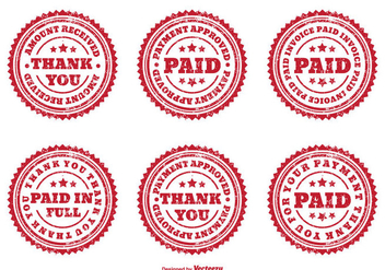 Distressed Assorted PAID Badges - Free vector #272685