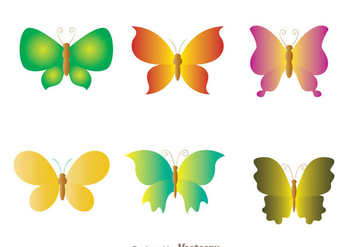 Butterfly Icons Set - vector gratuit #272755