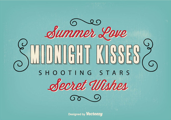 Retro Typographic Illustration - vector #272765 gratis