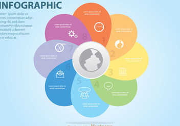 Colorful Venn Business Diagram - vector gratuit #272795