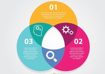 Infographic Venn Diagram - vector gratuit #272815