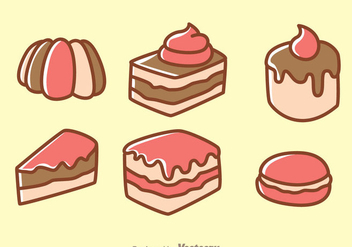 Cake Cartoon Icons - Free vector #272825