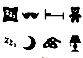 Sleep Black Icons - vector gratuit #272835