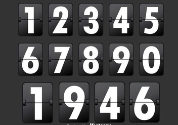 Black Number Counter - vector #272855 gratis