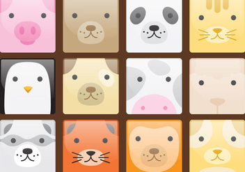 Cute Animal Avatars - бесплатный vector #272875