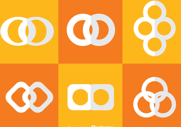 Infinite Loop White Icons - vector gratuit #273325