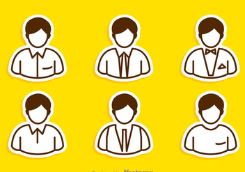 Man Icons Set - Free vector #273395