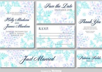 Wedding invitation cards - vector gratuit #273985