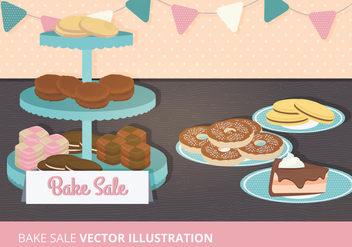 Bake Sale Vector Illustration - vector gratuit #274025