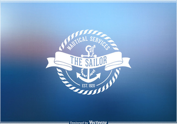 Free Vector Vintage Nautical Emblem - Kostenloses vector #274035