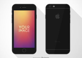 Free Flat iPhone 6 Vector Mockup - бесплатный vector #274045