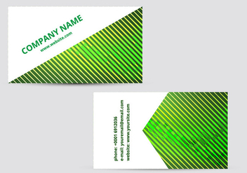 Green business card - vector #274055 gratis