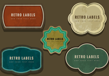 Colorful retro labels - бесплатный vector #274075