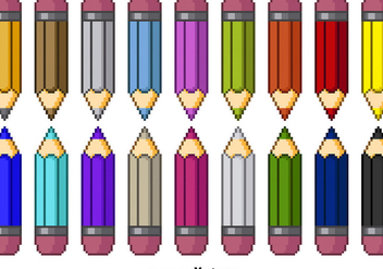Pixel color pencils - Free vector #274125