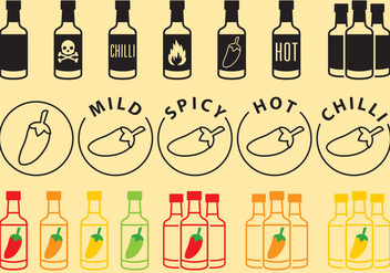 Sauce Bottles Icons - vector #274175 gratis