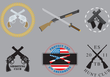 Crossed Guns Vectors - Kostenloses vector #274235