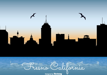 Fresno California Skyline Illustration - vector gratuit #274245