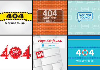 404 Error Screens - vector gratuit #274395