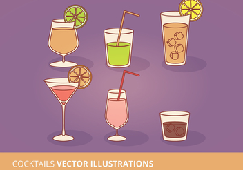 Vector Cocktails Collection - бесплатный vector #274425