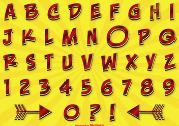 Comic Style Alphabet Set - vector #274465 gratis