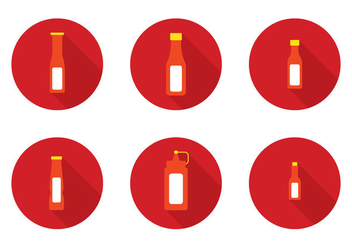 Hot Sauce Bottle Vector - vector gratuit #274655