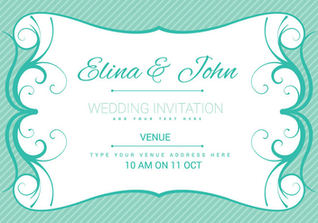 Wedding Card Invitation Vector - Free vector #274685
