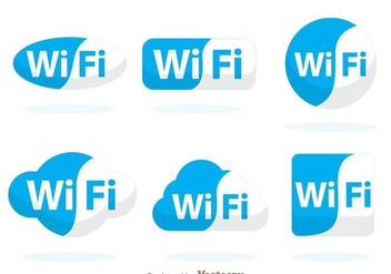 Blue Wifi Symbol - vector #274715 gratis