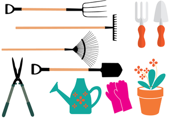 Garden Equipment Vectors - бесплатный vector #274745