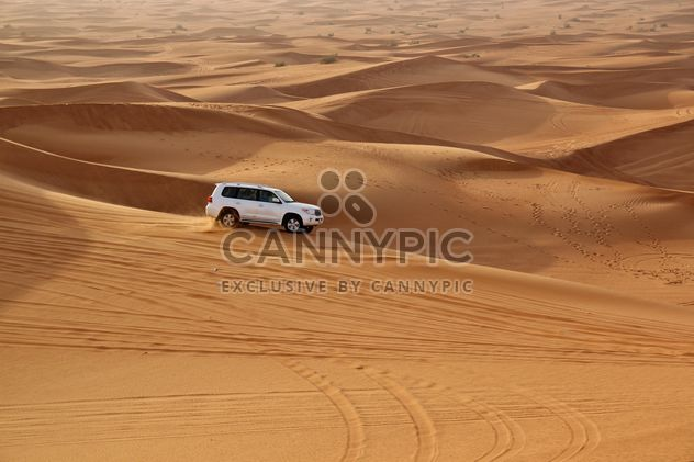 White car in desert - image gratuit #274765