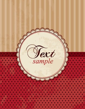 Retro Decorative Invitation Card - vector gratuit #274825