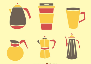 Coffee And Tea Pot Icons - vector gratuit #275115