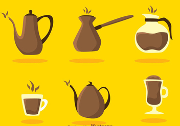 Vector Coffee Icons - vector gratuit #275125