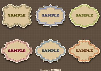 Vintage labels - vector gratuit #275145
