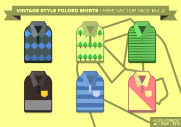 Vintage Folded Shirts Free Vector Pack Vol. 2 - бесплатный vector #275215