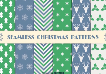 Christmas seamless patterns - Free vector #275285