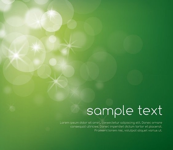 Magical Bokeh Bubbles Green Background - Free vector #281045